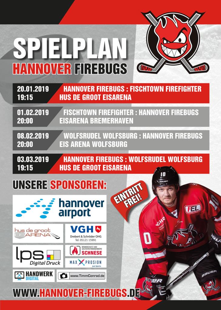 Spielplan Firebugs 2019 AlleSpiele